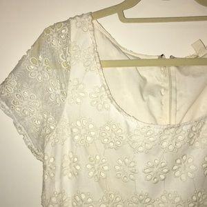 Ivory Flower Lace Dress